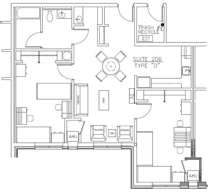 Residence Hall Layout D