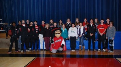 Group shot of the Western athletes that received an All-Minnesota College Athletic Conference (MCAC) Southern Division Academic award for the 2015-16 season