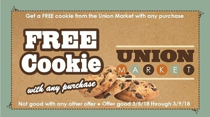 Free Cookie with Purchase Coupon