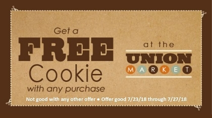 Free Cookie with any Purchase Coupon