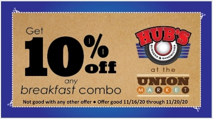 10% off any Breakfast Combo Coupon